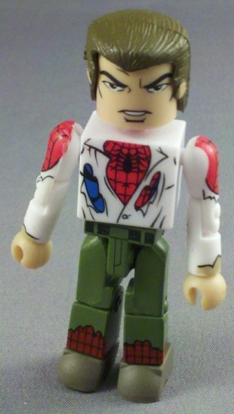 Marvel Minimates Review Unmasked SpiderMan  Green