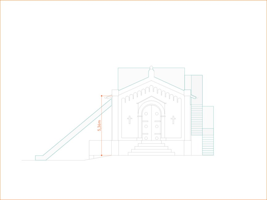 Kita Friedhofskapelle, Ansicht Haupteingang