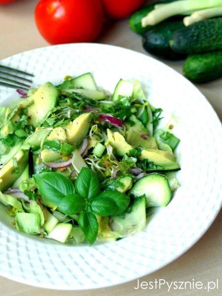 123 Szaszlyki z grilla + zielona salata V1