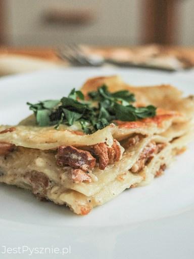 Lasagne z kurkami