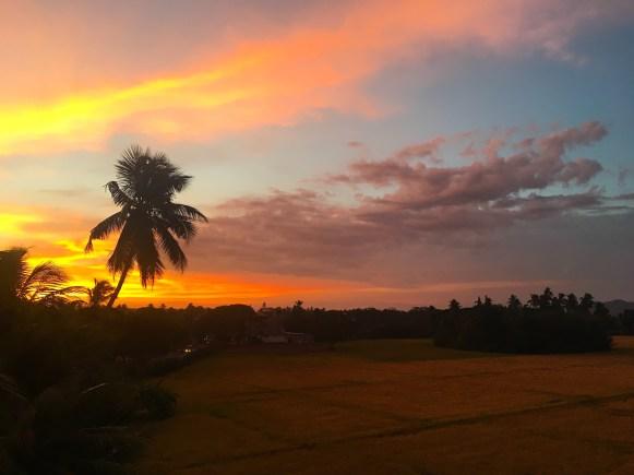 Sri Lanka: the sunset in Tissamaharama