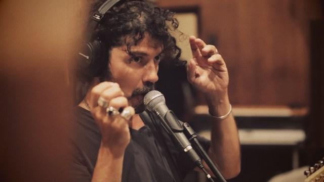 """Enregistrement de l'album """"On a tous quelque chose de Johnny"""" / Crédits studio = Antoine Goetghebeur"""