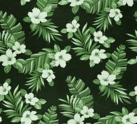 motif chemise hawaienne fleurs vert