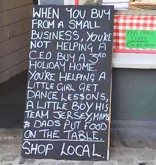 Support local businesses | The Rise of Community Spirit