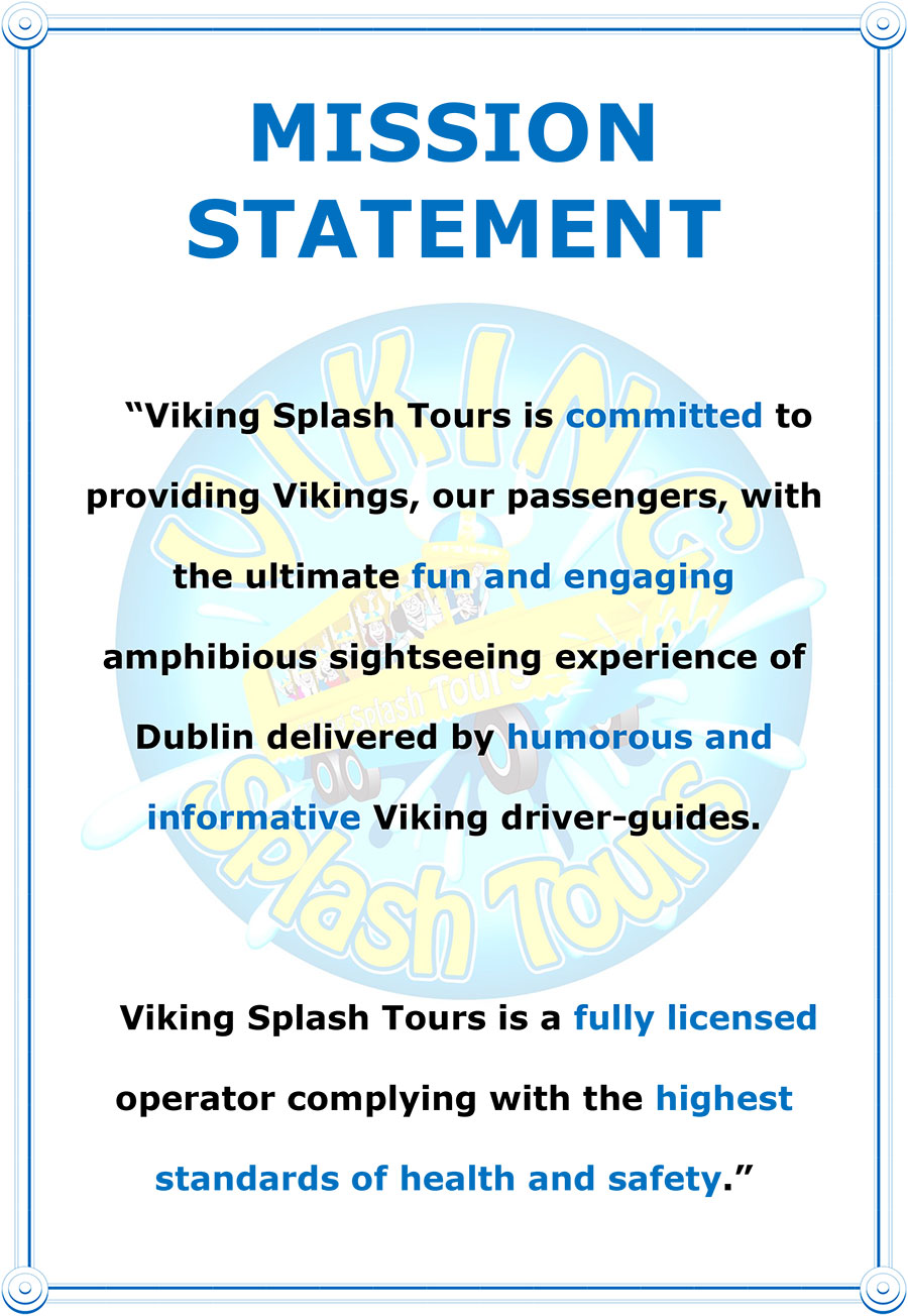 The Viking Splash Tours | Mission Statement