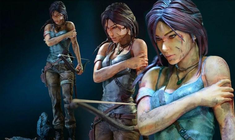 Statuette Gaming Heads Lara Croft