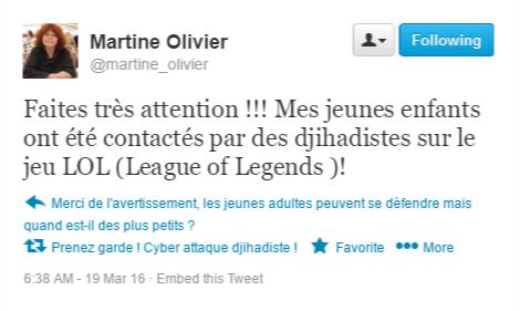 Tweet cybercriminalite djihadistes