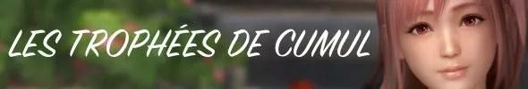 Guide trophées Dead or Alive Xtreme 3 Trophées de cumul