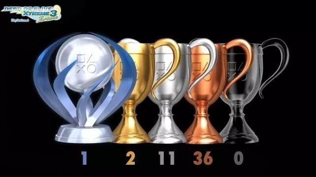 Détails des trophées de Dead or Alive Xtreme 3 (PS4)