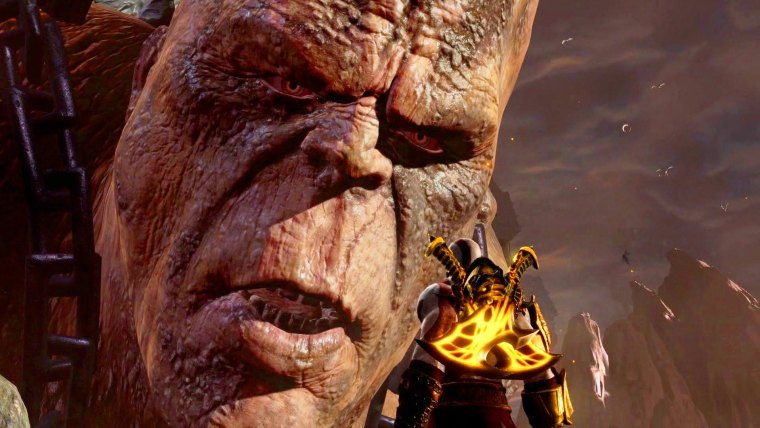 Combat de boss contre Cronos dans God of War 3