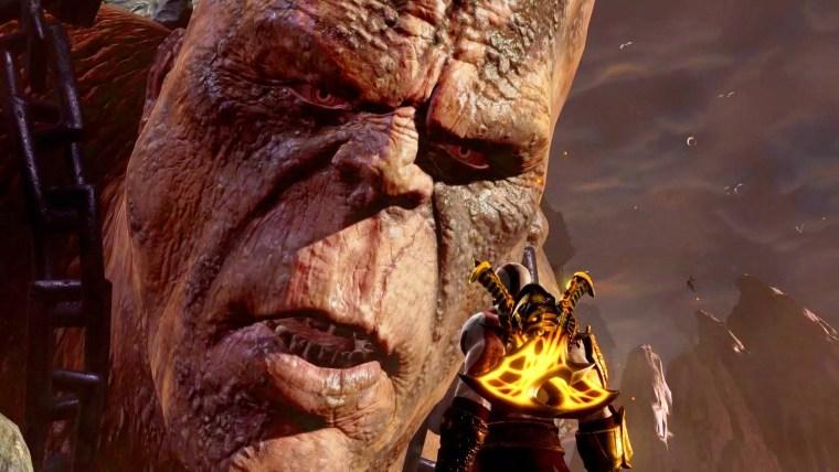 Combat de boss contre Cronos dans God of War 3