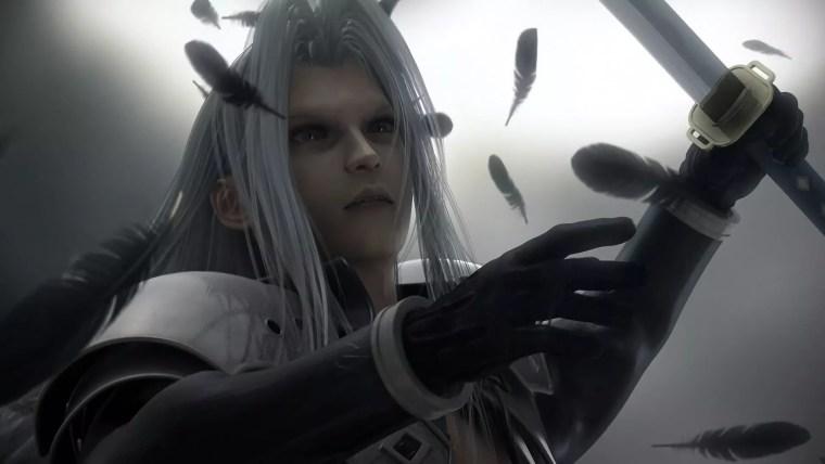 Combat de boss contre Sephiroth dans Final Fantasy VII
