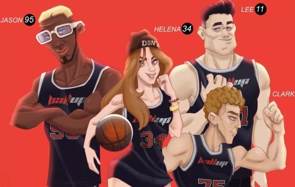 """L'équipe """"New Dream Team"""" du jeu 3on3 Freestyle, par Quentin Strale"""