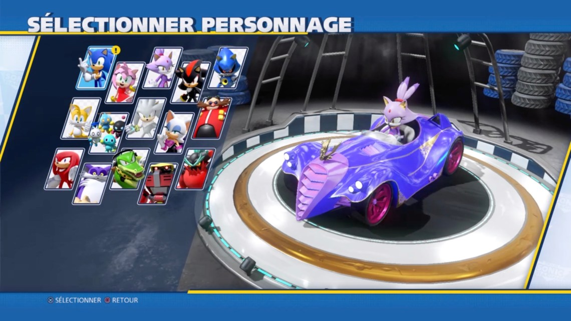 test de Sonic Team Racing : les personnages jouables