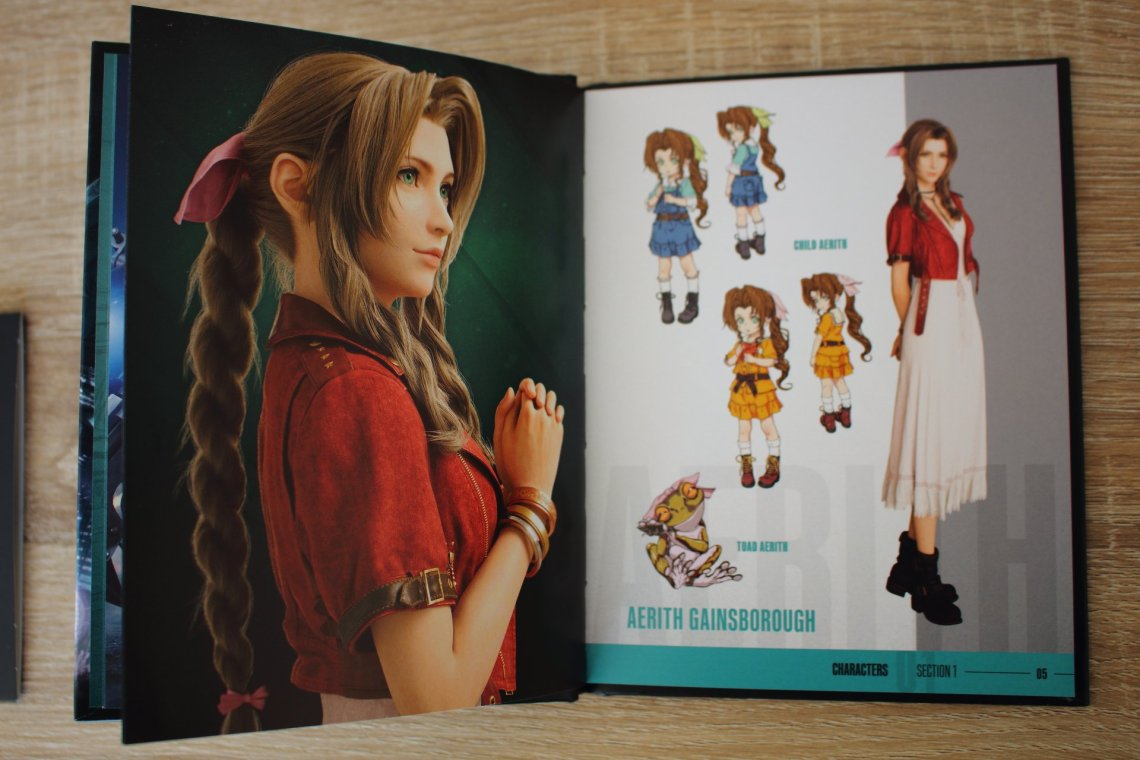 Mini artbook Final Fantasy VII Remake