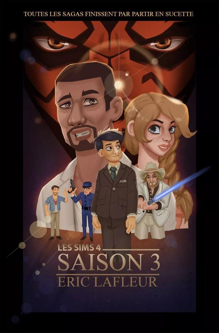 affiche série Sims 4 Star Wars