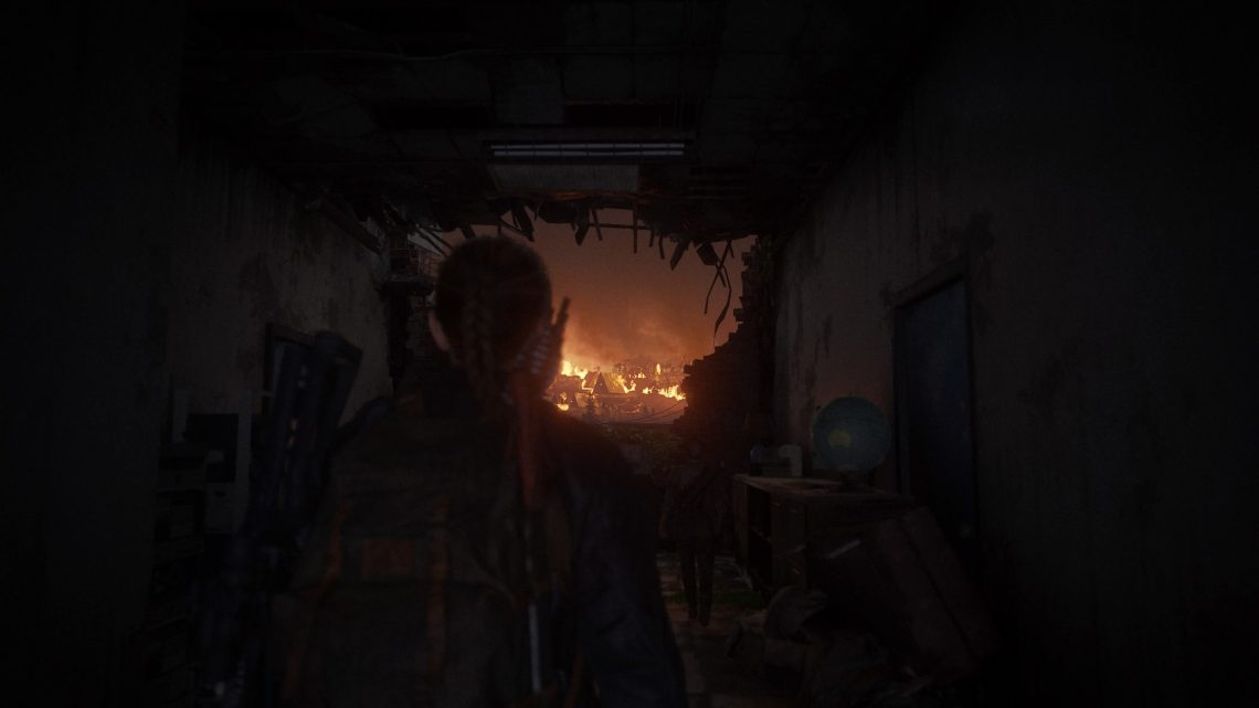 TLOU 2 village en feu