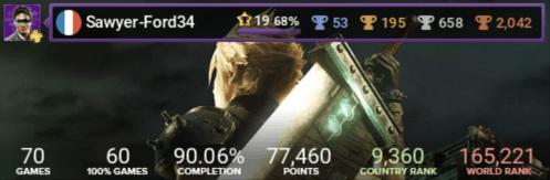 carte trophées Final Fantasy 7 Remake