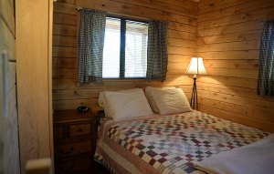 The bedroom of the cabin.