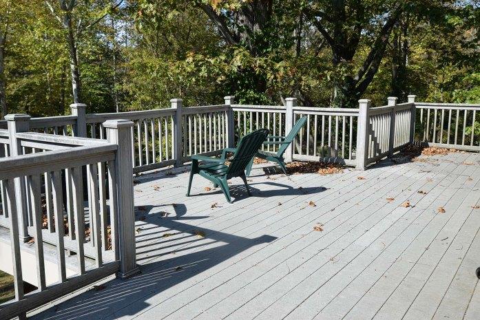 The outdoor deck.