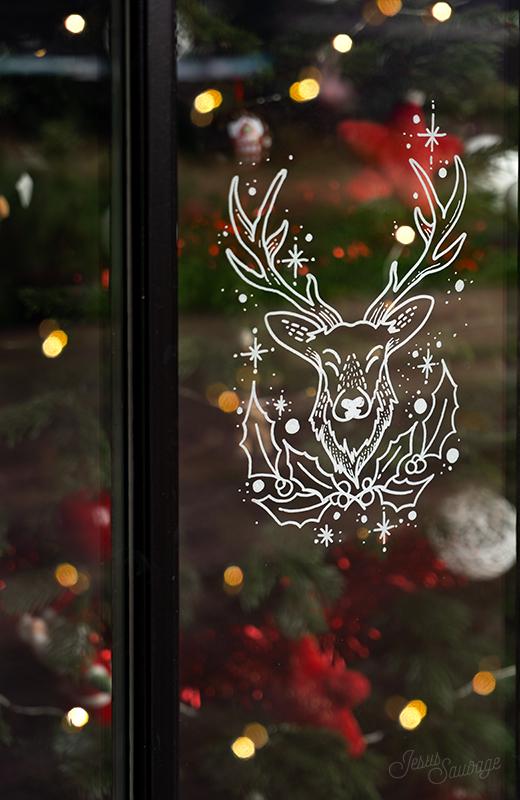 Dessin De Noel Sur Vitre : dessin, vitre, Noël,, Pimp', Fenêtres, #printable, Jesus-sauvage