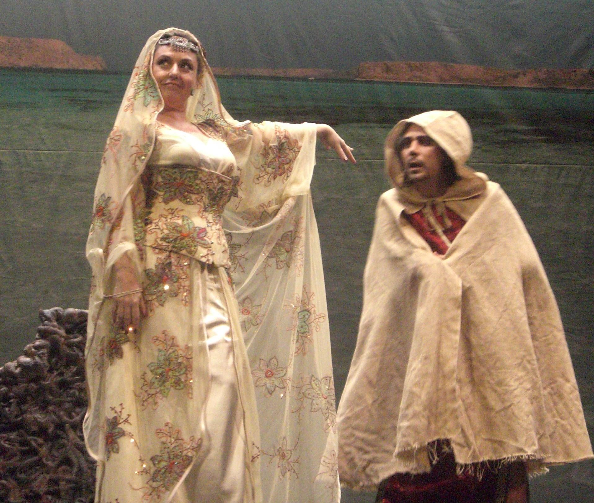 Montse Martinez en el papel de Casiopea
