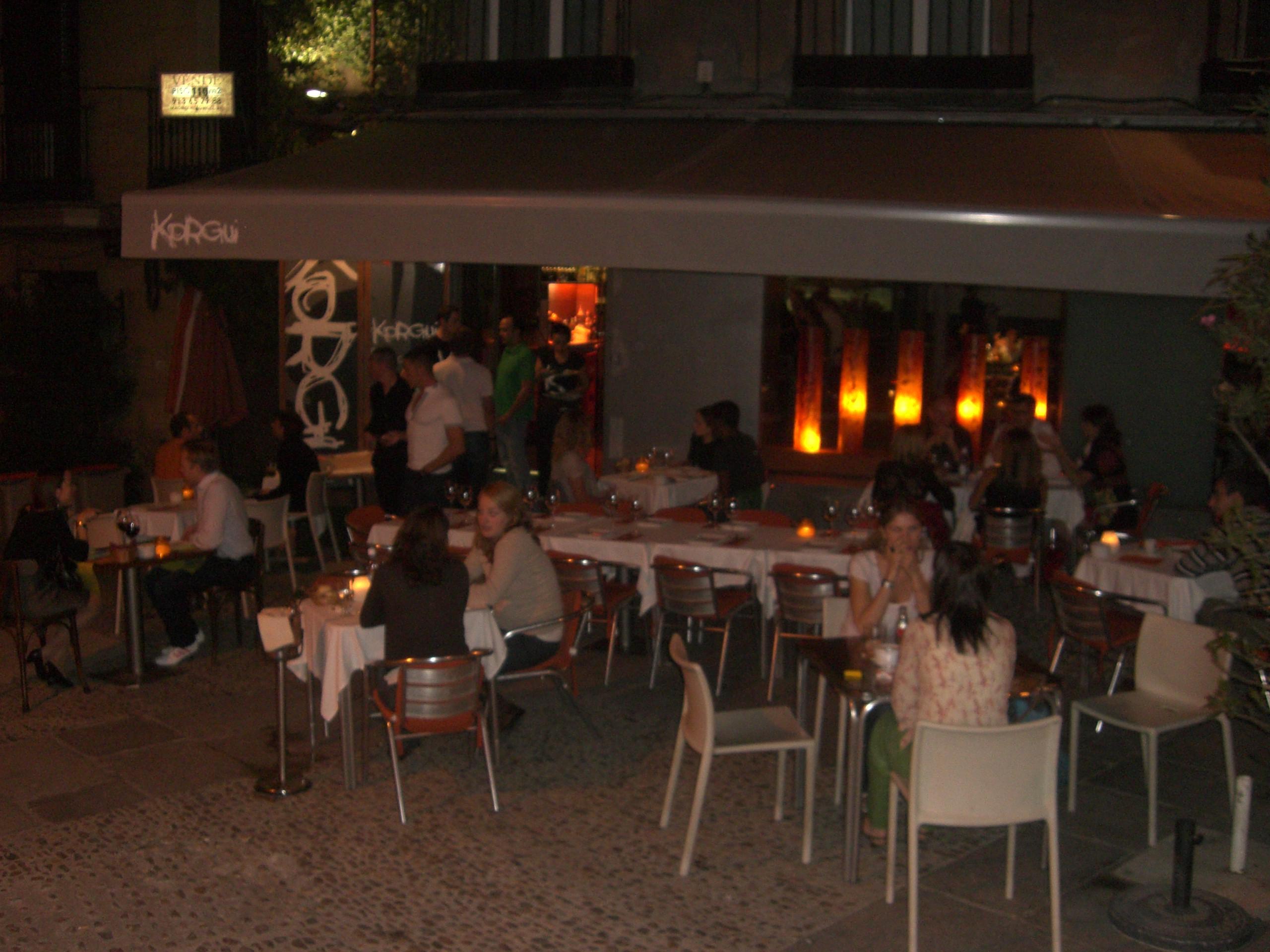 La terraza del restaurante Korgui