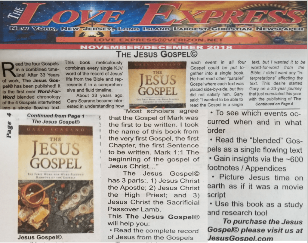The Jesus Gospel On Front Page Of The Love Express The