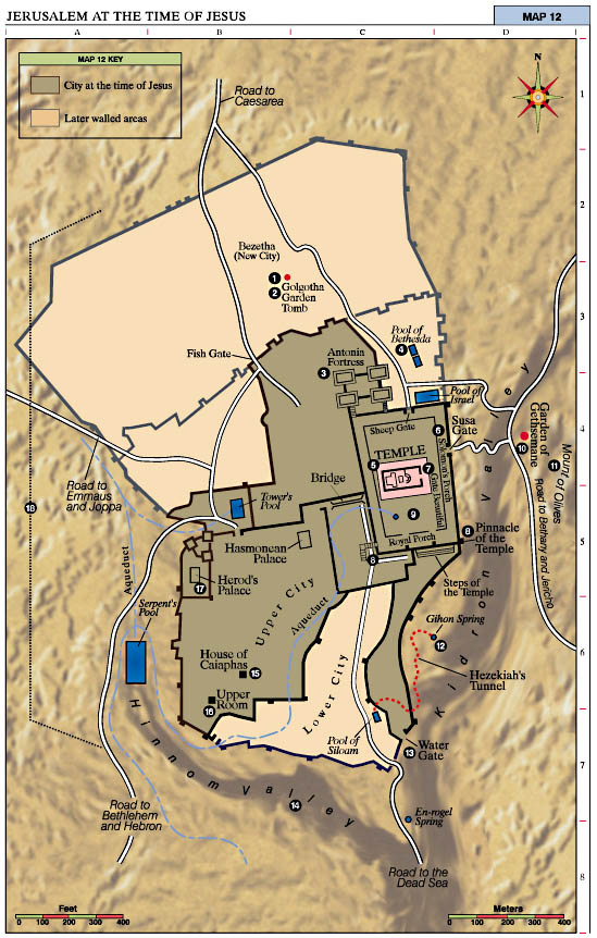 Jerusalem at the Time of Jesus Map