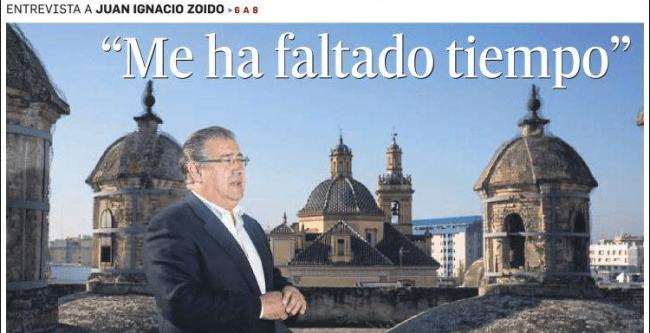 Entrevista con Juan Ignacio Zoido en el Diario de Sevilla, publicada el 5 de abril de 2015