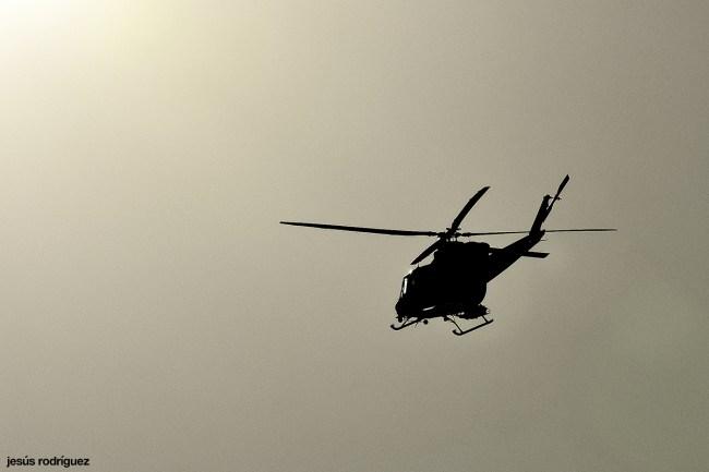 Helicóptero en el pantano de Aznalcóllar