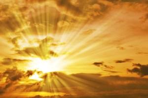 sun-shining-through-clouds