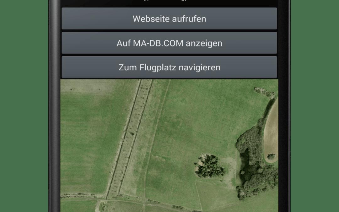 Modellflugplätze als App