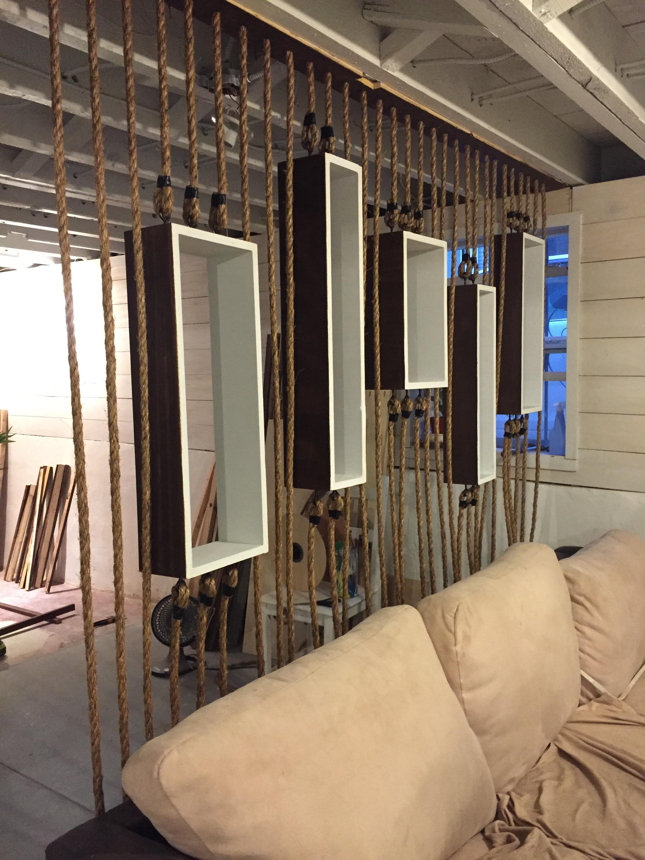 PROJECT DIY Rope Wall Separator  Longfellow Living