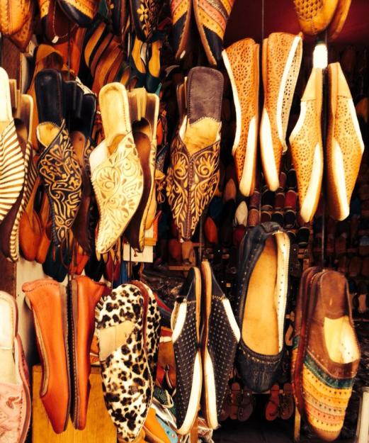 shoes, market, Essaouira, Morocco