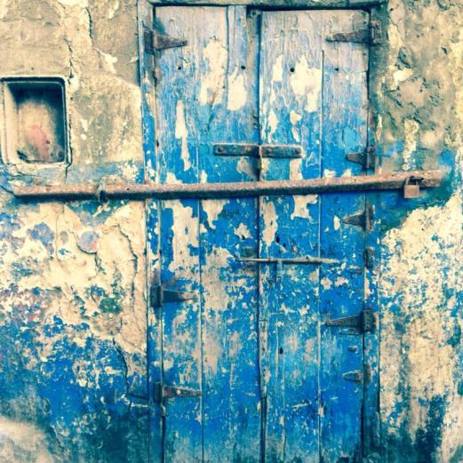 blue door, Essaouira, Morocco