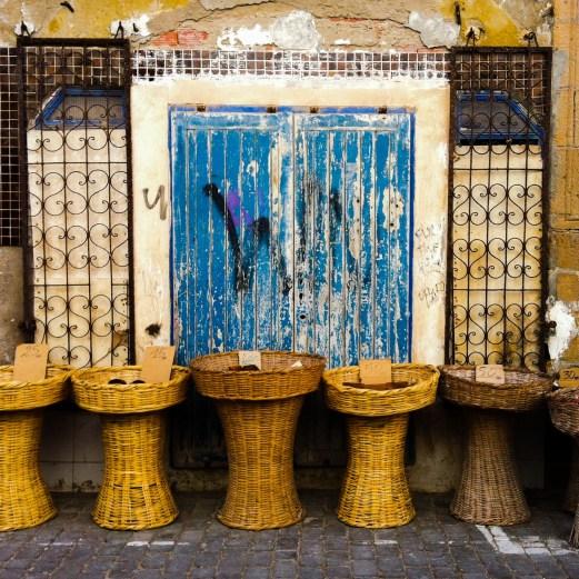 wicker baskets, Essaouira, Morocco