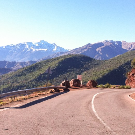 Atlas Mountains view and road