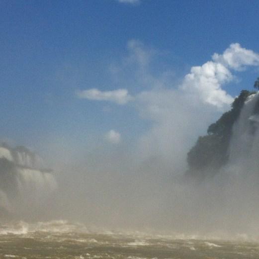 Iguazu boat close up
