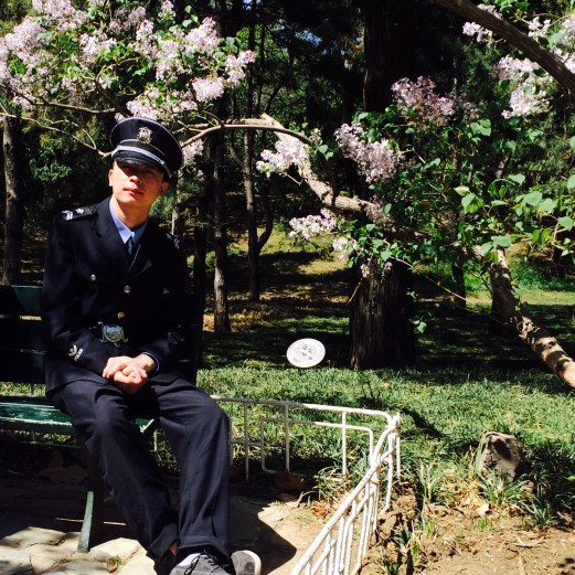 Summer Palace Policeman resting