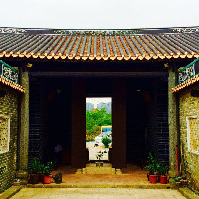 New Territories temple door view