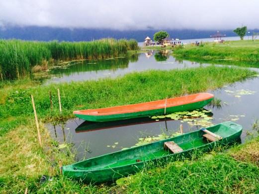 Lake Bratan boats