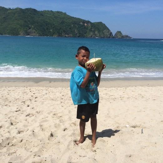 Lombok Island beach near Kuta
