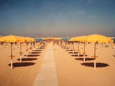 Pescara beach umbrellas