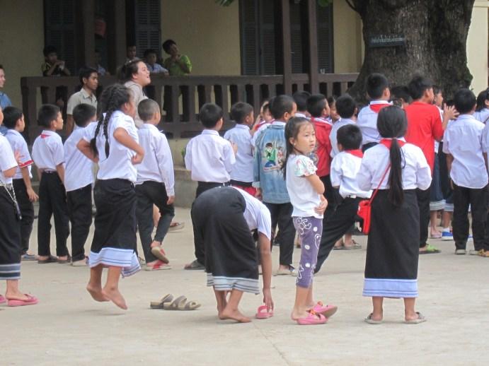 Luang Prabang school children