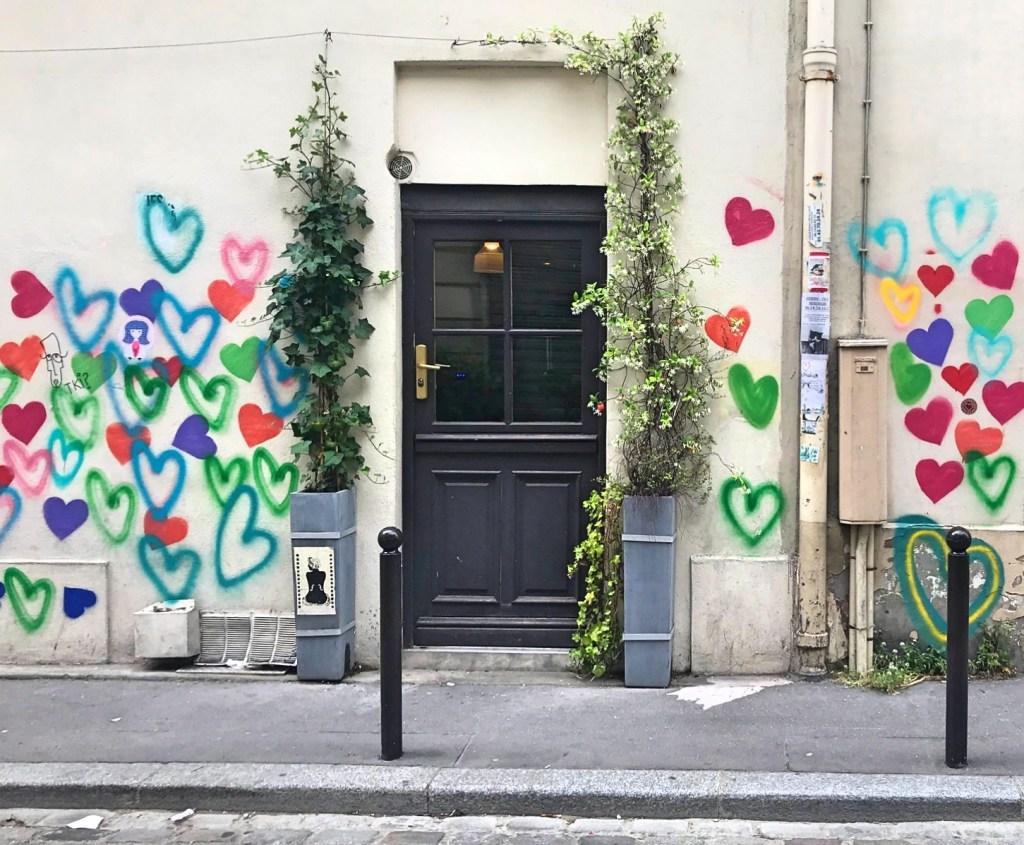 hearts and door in Paris