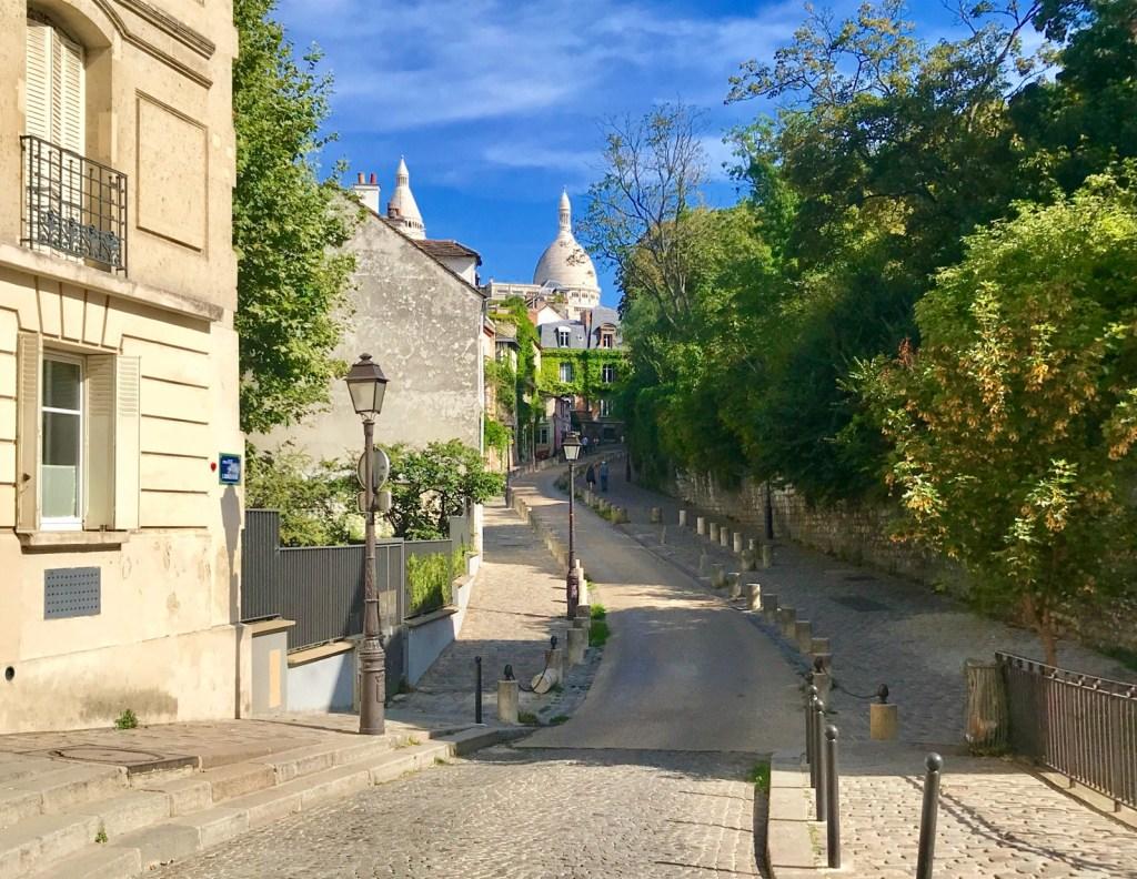 rue de l'Abreuvoir Montmartre view of Sacre Coeur