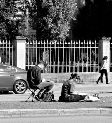 Zeichnen auf der Straße