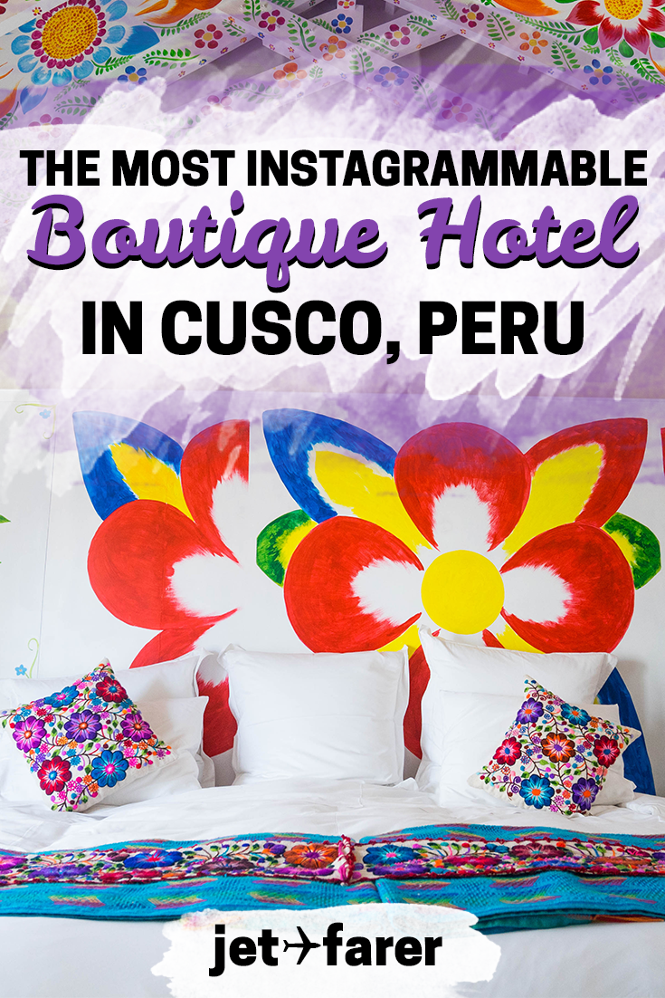 Wondering where to stay in Cusco, Peru? Try this hand-painted, colorful, Instagram-worthy boutique hotel! | where to stay in cusco | cusco hotels | cusco peru travel | things to do in cusco | cusco travel | beautiful places peru travel | peru travel tips | peru bucket list | instagram places in peru | things to do in peru | peru hotels |