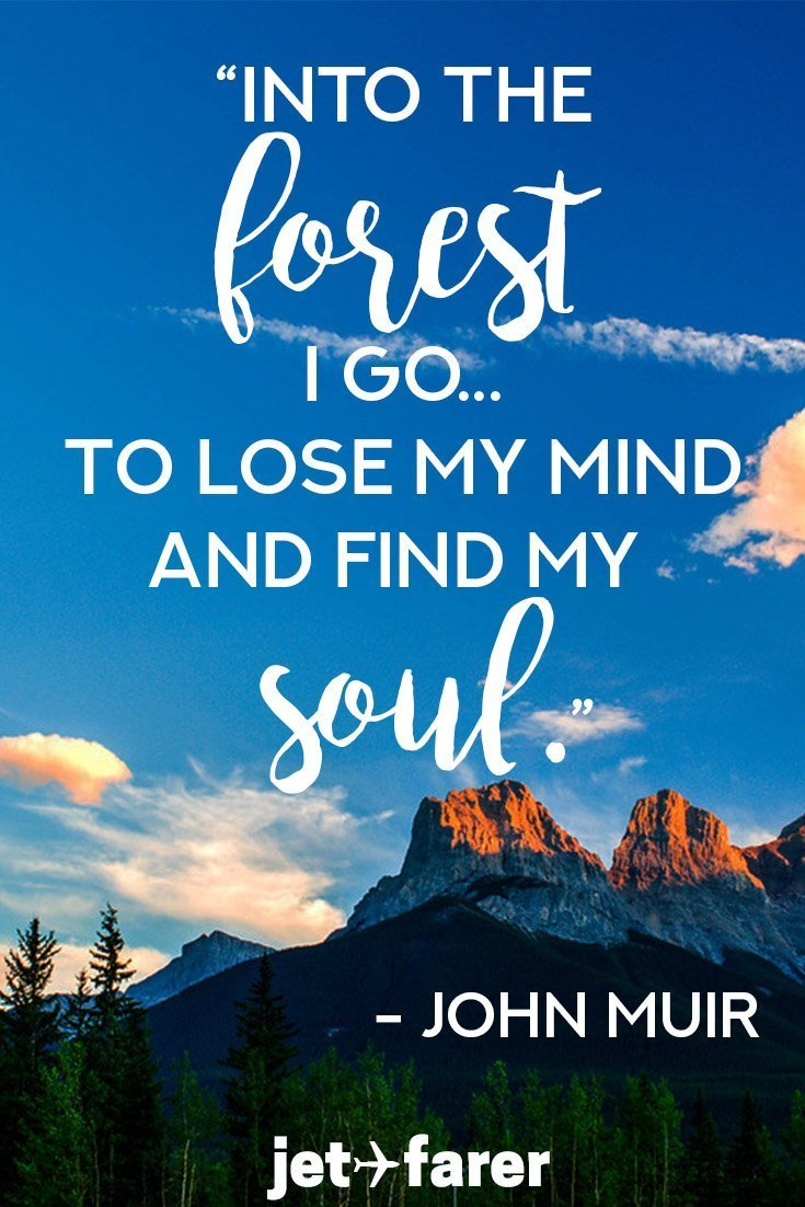 A John Muir Quote about the outdoors.